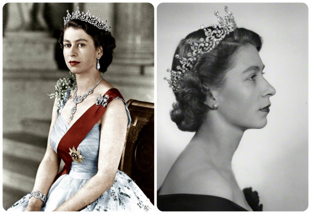 young queen elizabeth in the girls of GB & Ireland tiara