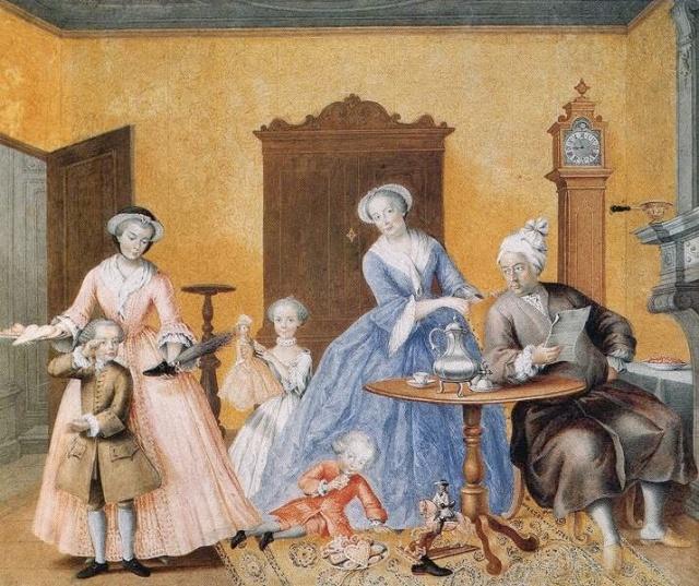 st. nicholas day, mosaicme1760 Hapsburg family portrait on Saint Nicholas Day