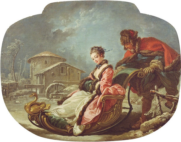 """Winter from Francios Boucher's series """"the Four Seasons."""""""
