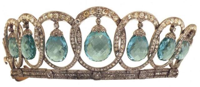 queen victoria eugena's aquamarine tiara la diadema de aquamarinas de la reina ena