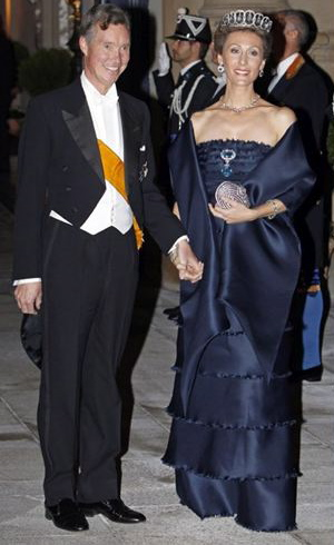 Princess Sibilla and her husband Prince Guillaume of Luxembourg at the royal wedding in October 2012.