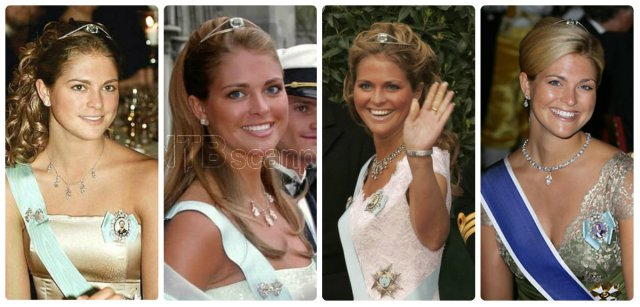 princess madeleine in aquamarine bandeau