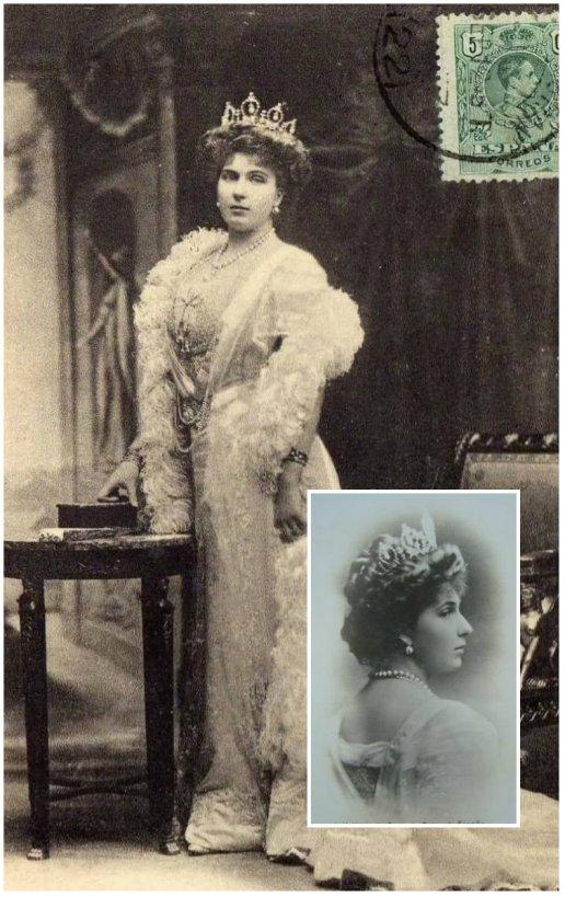 reina victoria eugenia aquamarine tiara with pearls diadema de aguamarinas con perlas