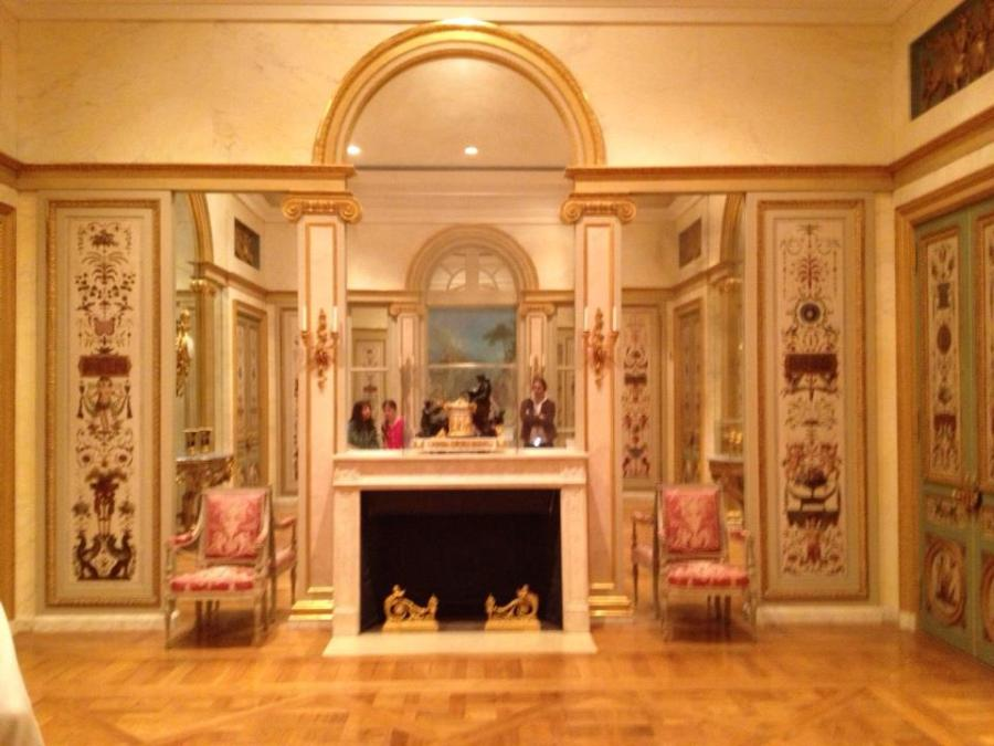 18th Century French white panelled room at the Getty Center