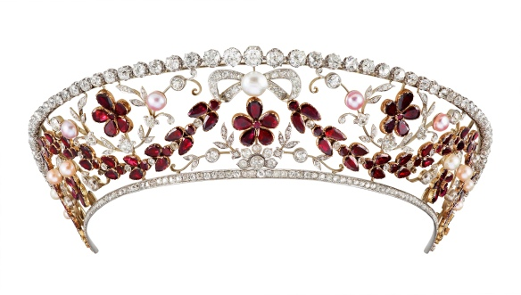not ruby but garnet rosenborg kokoshnik tiara