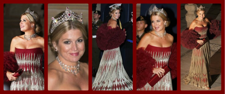 crown princess maxima of the netherlands at the 2012 Royal wedding in Luxembourg