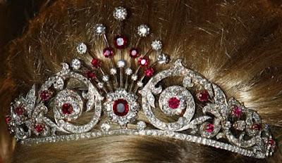 peacock tail tiara