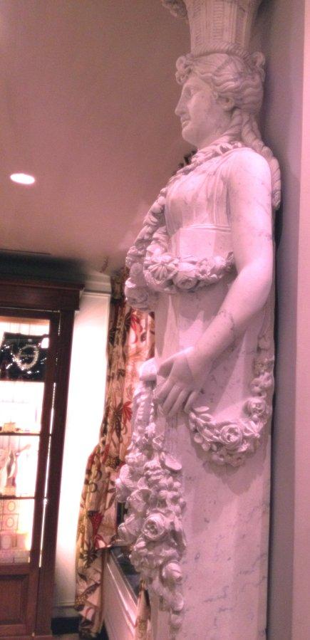 pillar inside Ladurée New York