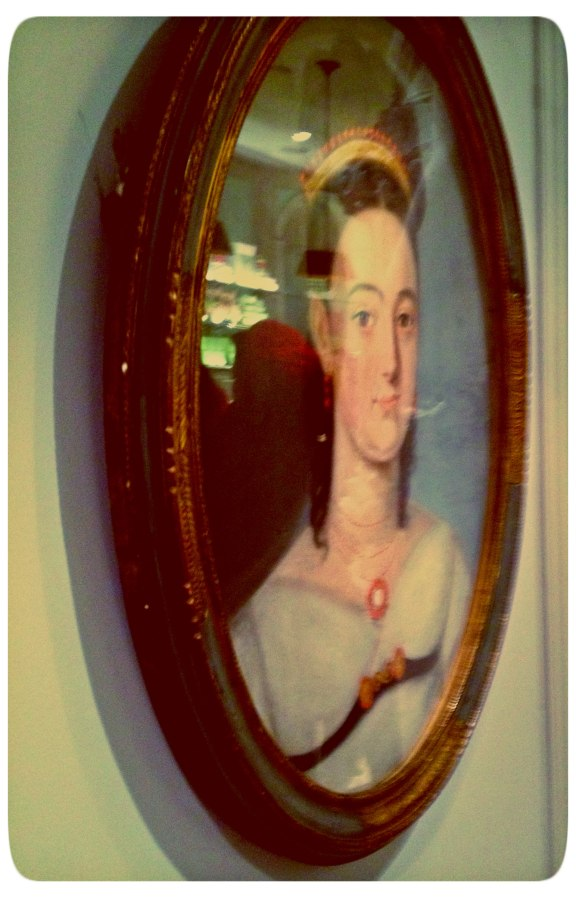 portrait on the wall at Ladurée NYC
