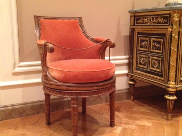 marie antoinette's chaise de toilette from Petit Trianon