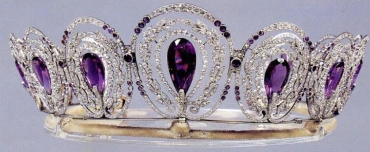 queen alexandra's mystery amethyst tiara