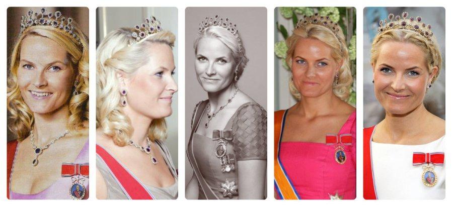crown princess mette-marit in Amethyst Necklace tiara