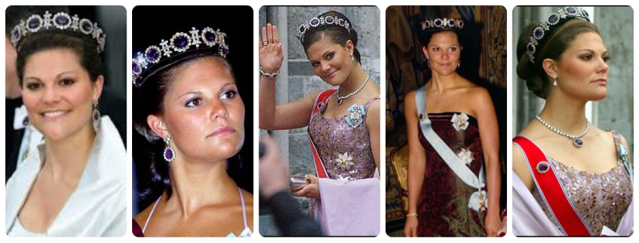 crown princess victoria in Napoleonic Amethyst tiara