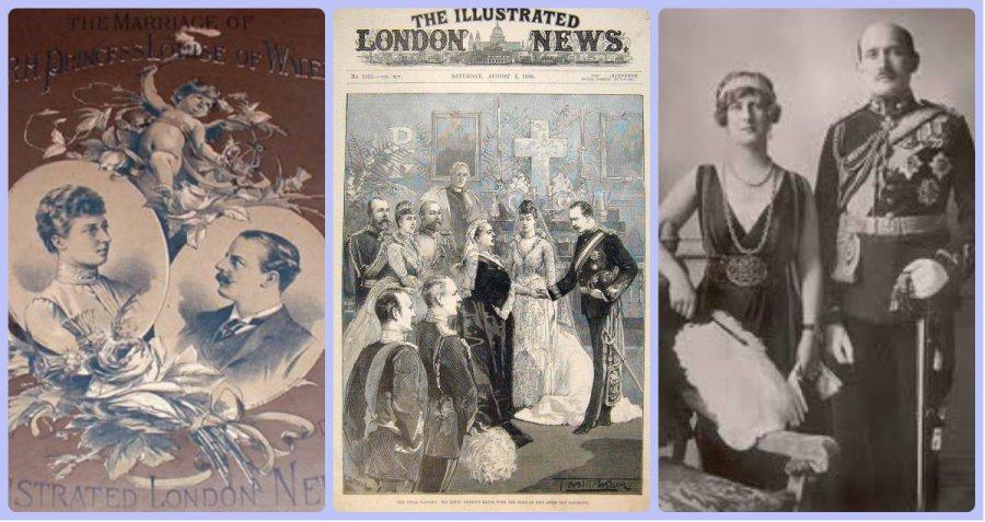 Duke & Duchess of Fife wedding collage