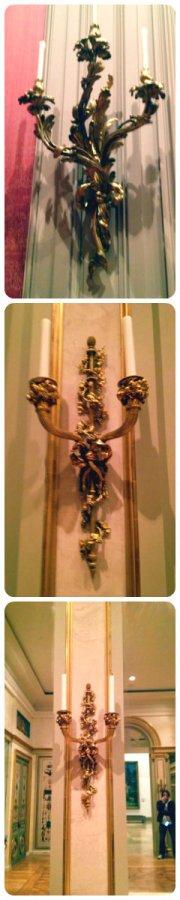 marie antoinette's gilded wall lights
