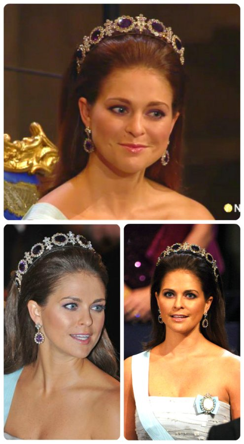 Princess Madeleine of Sweden, Duchess of Hälsingland and Gästrikland in Napoleonic Amethyst tiara