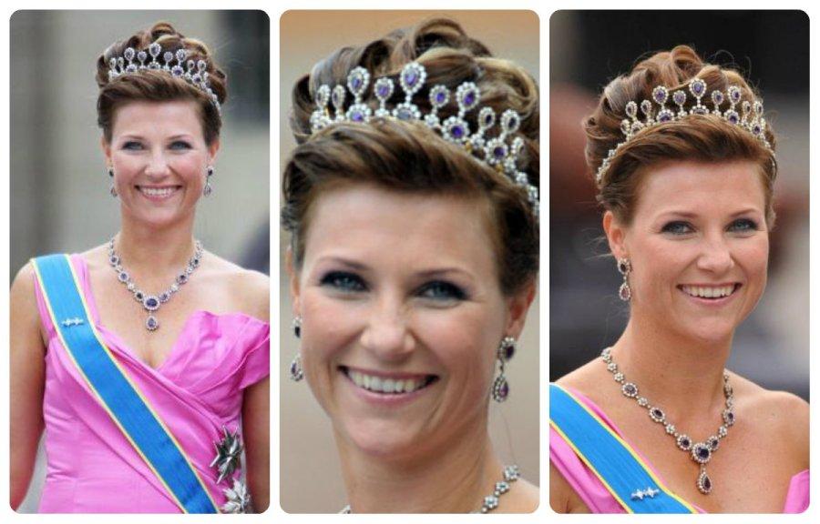 crownPrincess Martha Louise in Amethyst Necklace tiara