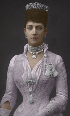queen alexandra in mystery amethyst tiara