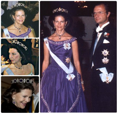 queen silvia and princess désirée in the napoleonic amethyst tiara