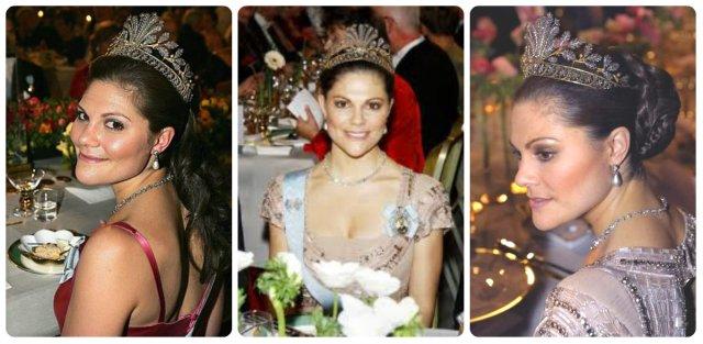 crown princess victoria in steel cut tiara