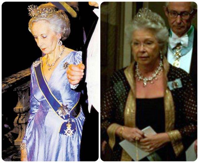 princess lillian and princess christina in steel cut tiara