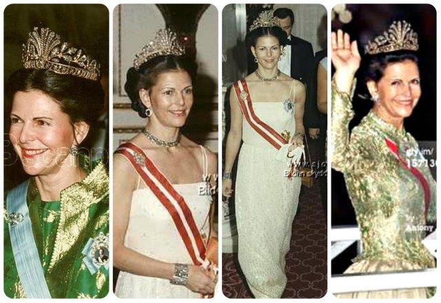 queen silvia in steel cut tiara