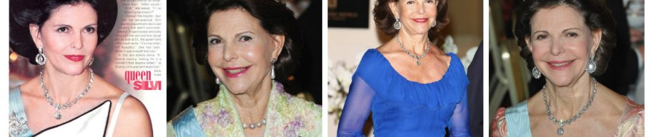 Queen Silvia of Sweden in Nine Prong Tiara