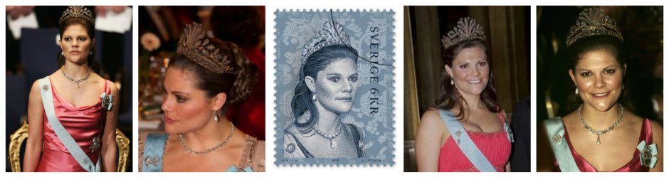 steel cut tiara crown princess victoria of sweden