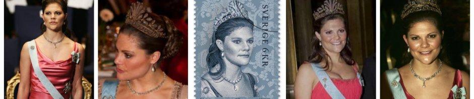 steel cut tiara crown princess victoria of sweden