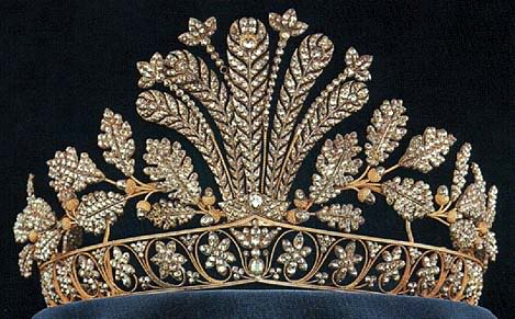 steel cut tiara of Sweden
