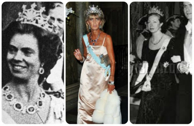 Sweden's Princesses in the Nine Prong Tiara