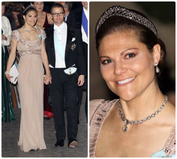 Crown Princess Victoria at Luxembourg Wedding other steel cut tiara