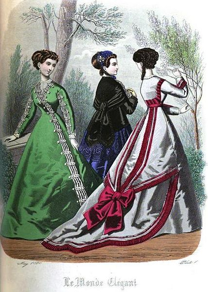 Victorian robe à la Polonaise