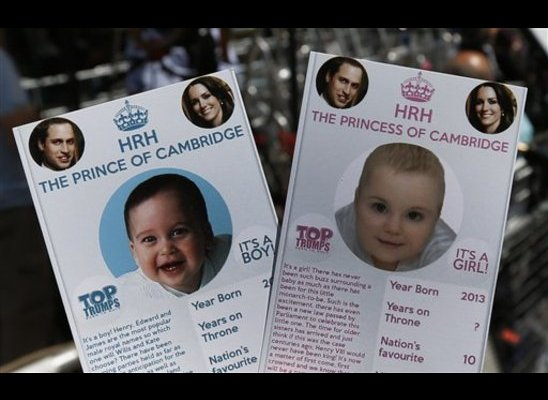 Royal Baby Trading Cards