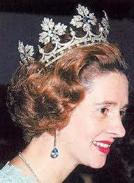 Fabiola in crown version of Spanish Wedding Gift tiara aquamarines