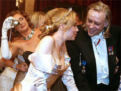 Francesca photo bombs Bob Geldof at 2008 Vienna Ball