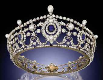 portland antique sapphire diamond and natural pearl tiara