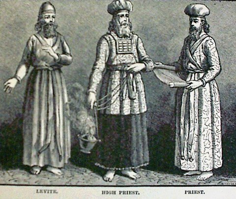 the costumes for the Levite, High Priest, Priestthe costumes for the Levite, High Priest, Priest