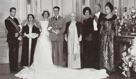 wedding portrait King Baudouin and Queen Fabiola
