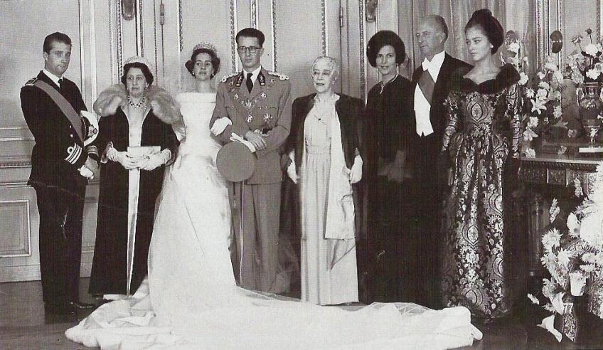 wedding portrait king baudouin and queen fabiola tiaras