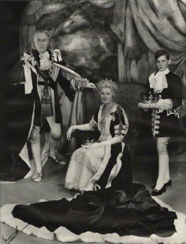 7th Duke and Duchess of Portland Ivy in Cartier Portland tiara 1953 Coronation
