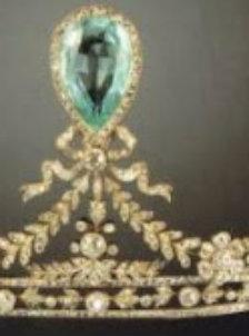 Hesse Aquamarine Tiara detail