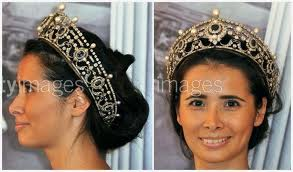 modeling the Portland Sapphire tiara