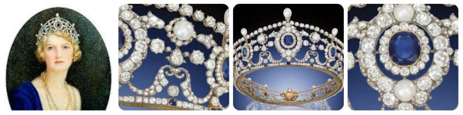 portland sapphire tiara collage