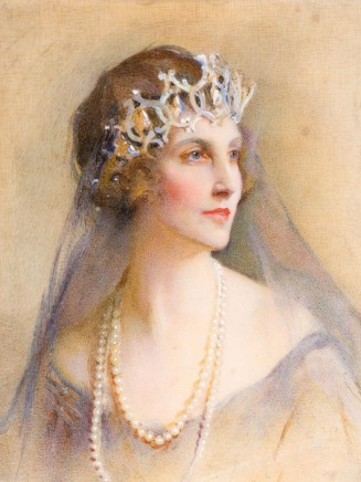 painting lady winnifred in cartier portland tiara
