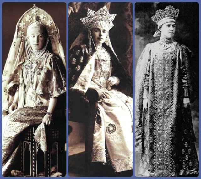 1903 Ball Women's costumes collage 3