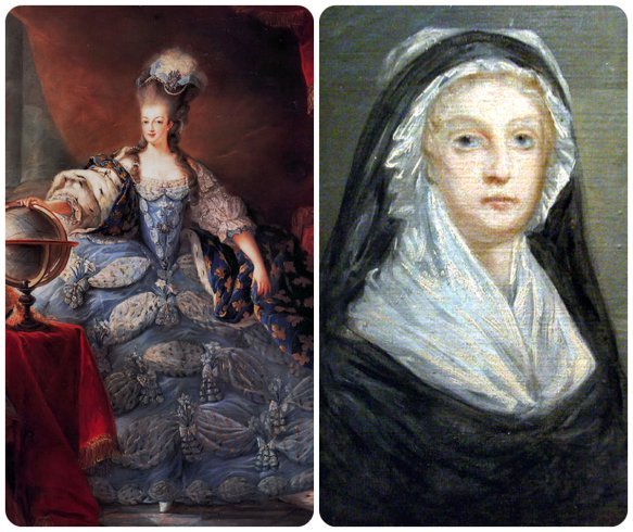 coronation marie antoinette vs. widow capet collage