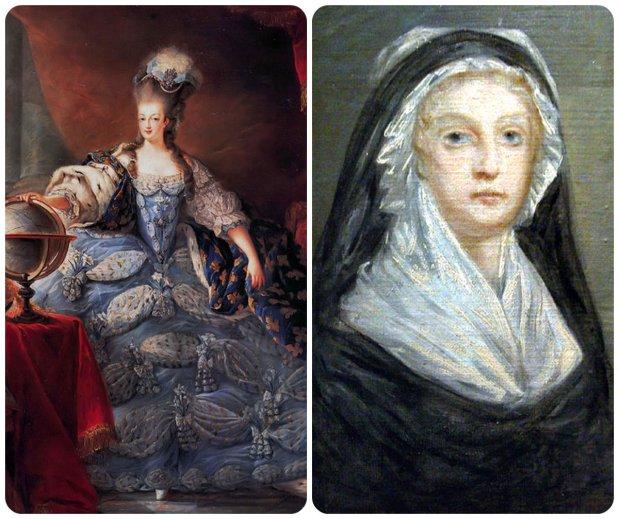 coronation marie antoinette vs. widow capet collage