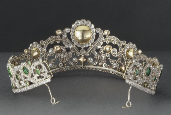 Emerald & Diaback view of Duchess of Angouleme Emerald Tiara