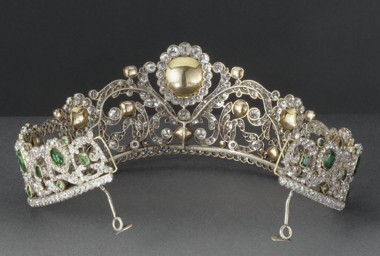 Emerald & Diaback view of Duchess of Angouleme Emerald Tiara